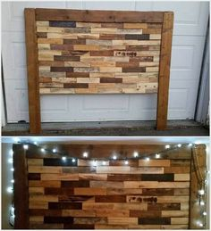 There would be no such wood pallet that would not be utilized in the creation of the headboard designs. You can dramatically make use of the old shipping pallets in headboard designing for your bed frame. You can add it with some linear pattern designs to bring impressive strokes into it. Make it much more beautiful by placing lightening effect over the headboard.