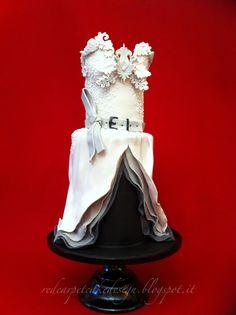 ZOE SALDANA OSCAR 2013 -ALEXIS MABILLE COUTURE DRESS- by Red Carpet Cake Design