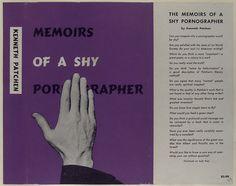Pre-1950s book jackets. Memoirs of a Shy Pornographer.