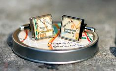 How about cufflinks that have the exact spot on the planet where we met our special someone engraved on them?