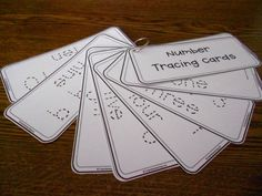 Number Tracing Cards - Crayonbox Learning! :)