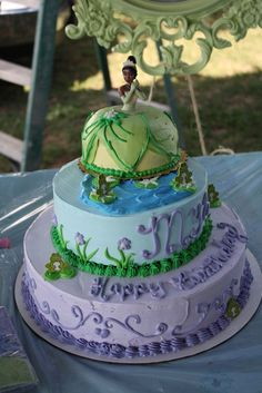 Princess & the Frog cake!