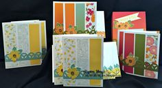 cards by Alyson Mayo using CTMH Happy Times paper