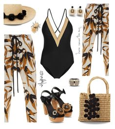 """Raffia on the beach"" by nineseventyseven ❤ liked on Polyvore featuring Marni, Dolce&Gabbana, Ann Taylor, Kate Spade, Alexis Bittar, Banana Republic, raffia and contestentry"
