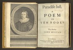 1667 Milton_s  Paradise Lost greatest epic poem in England.JPG