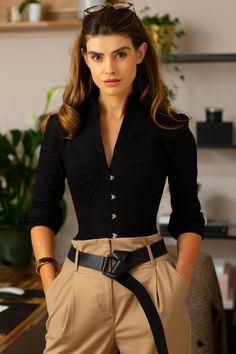 Black and White Monochrome Corset Shirt – Corset Story US Blouse Corset, Corset Dresses, Lace Corset, Corset Noir, Bridal Corset, Style Personnel, Lace Tights, Blazers, Waist Training Corset
