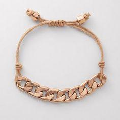 chain & twine/leather