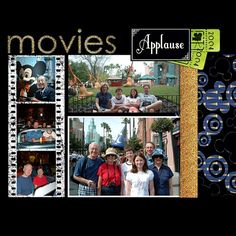 #Disney Hollywood Studios #Scrapbook Page by Sharon using Vintage Hollywood Digital Kit by Capturing Magical Memories