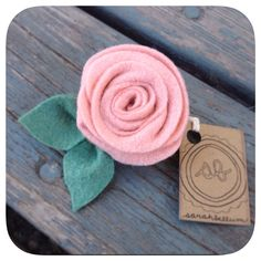 Pink girly felt flower hair clip by Sarahbellum in Chelan, WA