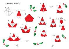 Télapó Info | Télapó origami, mikulás origami hajtogatás