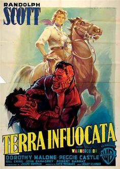 Western movie poster - TERRA INFUOCATA