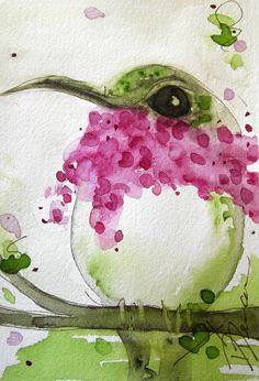 Calliope Hummingbird Watercolor Print by RedbirdCottageArt on Etsy, $20.00
