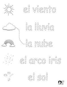 spring worksheets spanish