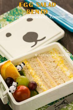 Egg Salad Sandwich Bento (たまごサンド弁当) | Easy Japanese Recipes at JustOneCookbook.com