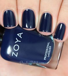 Zoya Ryan | Fall 2014 Entice Collection | Peachy Polish Navy Blue Nails, Navy Blue Nail Polish, Fun Nails, How To Do Nails, Pretty Nails, Nail Polishes, Zoya Nail Polish, Beauty Nails, Nail Colors