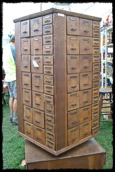 Imagine each draw contains a prompt to explore and discovery something about yourself. A rotating unit of mysterious drawers. Really captures my curiosity. Wood Storage, Craft Storage, Storage Cabinets, Locker Storage, Antique Cabinets, Wooden Cabinets, Apothecary Cabinet, Store Fixtures, Cubbies