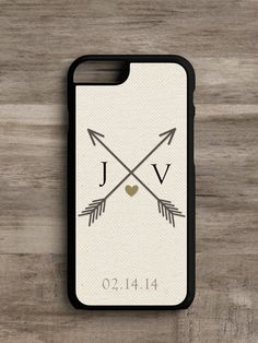 Linen Love Crossbow w/Initials- Cell Phone Case