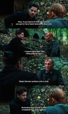 Inglourious Basterds,  Brad Pitt  #Tarantino