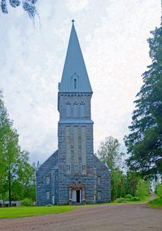 Västanfjärd New Church Photo: Patrick Bagge Grey Stone, Building, Travel, Viajes, Buildings, Destinations, Traveling, Trips, Construction