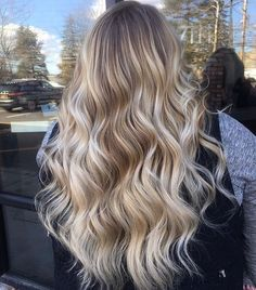 20 Cute and Easy Blonde Balayage Hairstyles – My hair and beauty Blonde Ombre Hair, Blonde Hair Looks, Blonde Waves, Icy Blonde, Brunette Hair, Balayage Ombré, Gorgeous Hair, Pretty Hairstyles, Wedding Hairstyles