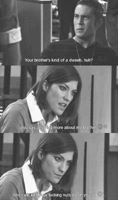 Me. Except my brother isn't dweeby at all.