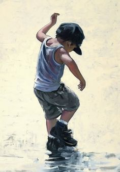Darling child stomping in the mud puddles. Keith Proctor