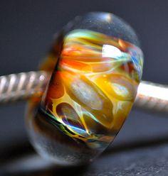 handmade glass large hole euro fit bead for trollbeads by paulbead, $10.00