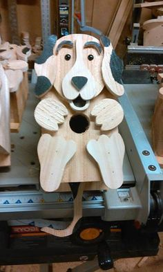 Beagle birdhouse by DarrylRossWoodworks on Etsy