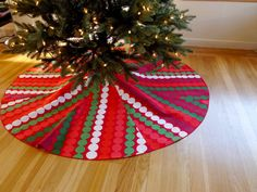 Marimekko Christmas tree skirt with by stonevalentine on Etsy, $120.00