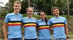 Rio 2016 - triatlon (v) Katrien Verstuyft en Claire Michel staan klaar voor hun olympische avontuur. Ze beginnen om 16u aan de triatlon voor vrouwen: 1,5 km zwemmen, 38,5 km fietsen en 10 km lopen.