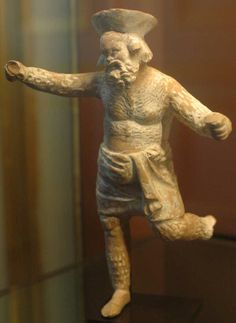Papposilenus with Crotala, Louvre.A dancer's instrument like the todays castanets(rattles).Probably a split reed or cane, which clattered when shaken with the hand. According to Eustathius it was made of shell and brass, as well as wood. Clemens Alexandrinus says that it was an invention of the Sicilians. The word krotalon is used also as a metaphor, for a noisy talkative person. The sound of the krotala is called rhymbos or rombos.