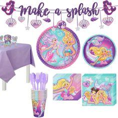 Barbie Birthday, Barbie Party, Mermaid Birthday, 10 Birthday, Birthday Ideas, Mermaid Barbie, Mermaid Kids, Online Party Supplies, Kids Party Supplies