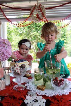 Mixing mocktails and enjoying cake. www.meiandmaytheblog.blogspot.com
