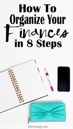 How to organize your money, credit, net worth, and bills. | Financegirl
