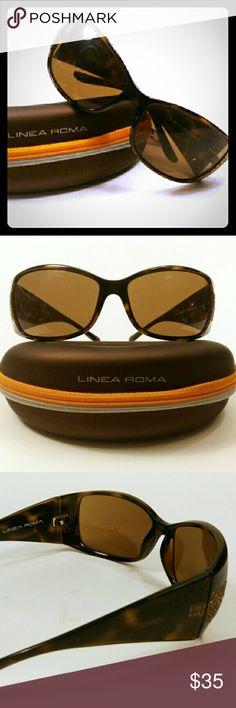 Linea Roma Tortoise Shell Sunglasses Linea Roma Tortoise Shell Sunglasses. Moderately worn, slight small scratches. Lines Roma case included. Accessories Sunglasses