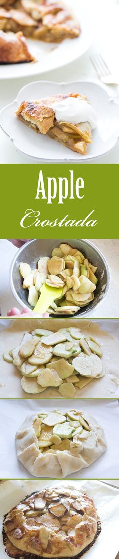 When you can't be bothered with a pie, make a rustic tart! This apple crostada is easy to make. Fresh apples, cinnamon, nutmeg, vanilla, in a simple butter crust. Great for a holiday gathering! On SimplyRecipes.com