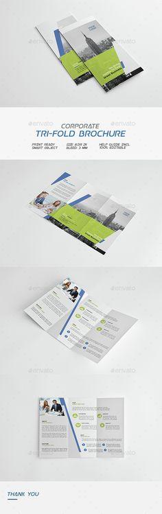 Corporate Tri-Fold Brochure Template PSD. Download here: http://graphicriver.net/item/corporate-trifold-brochure/14973250?ref=ksioks