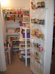 Great Gift Wrap Storage   Basic Organization