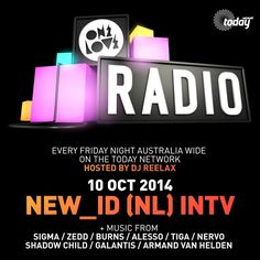ONELOVE RADIO 10 OCTOBER - NEW_ID INTERVIEW by Onelove Radio | Mixcloud This upload features tracks from R3hab & Nervo, Kraak N Smaak, The Magician, Joeysuki, Kaz James and more