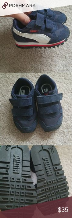 Baby puma sneaker Dark blue suede and leather puma sneaker. Never worn. Puma Shoes Baby & Walker