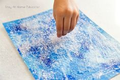 Sparkly Winter Paintings Make Gorgeous Winter Process Art These mixed medium winter paintings are perfect for young toddlers as well as older preschoolers and kindergartners. Gorgeous winter process art for kids! Process Art Preschool, Preschool Art Projects, Craft Activities, Winter Painting, Painting For Kids, Art For Kids, January Art, January Crafts, Winter Crafts For Toddlers