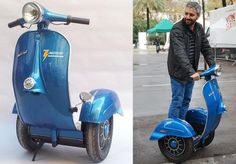 A Vespa had to die for the Segway to look vintage Funny Baby Images, Funny Pictures For Kids, Funny Animal Pictures, Funny Kids, Fail Pictures, Random Pictures, American Funny Videos, Funny Dog Videos, Humor Videos