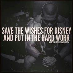Hard work makes dreams come true