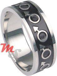 Enamel Stainless Steel Gay Pride MARS Men Ring Size 12 My pride Jewelry. $4.99
