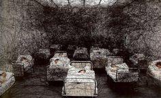 Chiharu Shiota's large scale installations