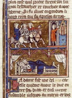Arrivée d'Uter Pandragon à Tintagel – Conception d'Arthur