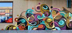 Mural inspiration for my art room Graffiti Art, School Murals, Murals Street Art, Mural Wall Art, Collaborative Art, Art Classroom, Art Club, Public Art, Art Projects
