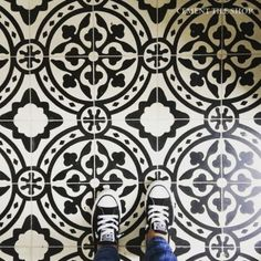black and white tile floor. Tyler Cement Tile Price Per Piece  6 40 Sq Ft Box 5 28 Amber Interiors instagram I N S T A G R M Pinterest