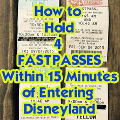 Fastpasses @ Disneyland - Includes map and tips to help you maximize your touring time