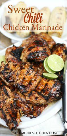 Chicken Fajita Rezept, Chicken Marinade Recipes, Marinade Sauce, Grilling Recipes, Cooking Recipes, Grilled Chicken Marinades, Sauce For Grilled Chicken, Recipe Chicken, Grilled Chicken Thigh Marinade